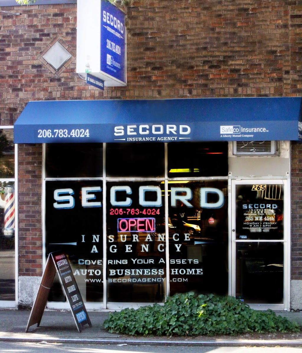 Secord Agency Insurance | insurance agency | 265 NE 45th St, Seattle, WA 98105, USA | 2067834024 OR +1 206-783-4024