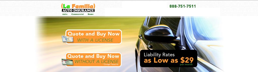 La Familia Auto Insurance | insurance agency | 4320 E Lancaster Ave, Fort Worth, TX 76103, USA | 9725867486 OR +1 972-586-7486
