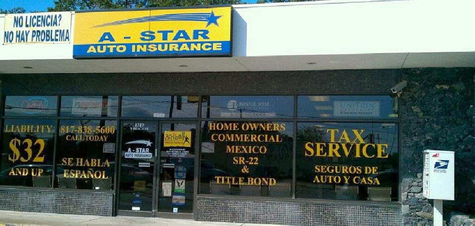 A - Star Auto Insurance | insurance agency | 1319 N Beach St, Fort Worth, TX 76111, USA | 8178385600 OR +1 817-838-5600