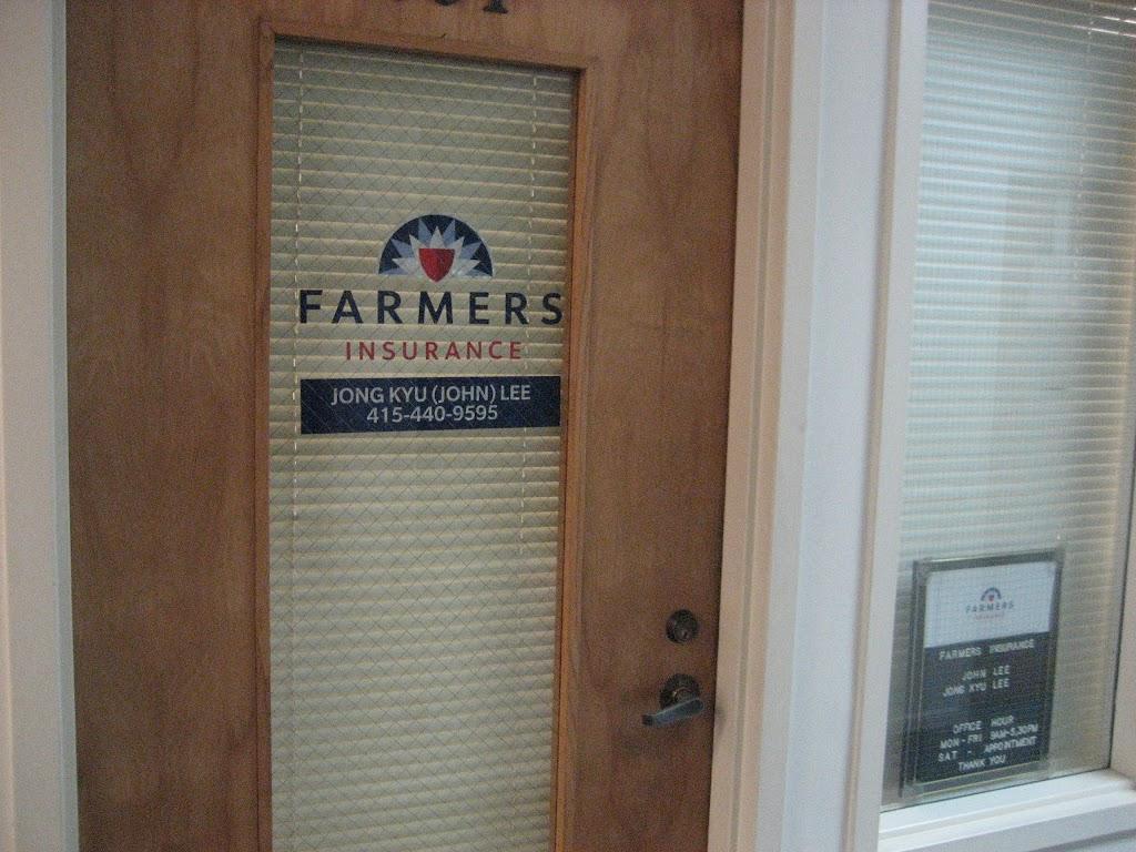 Farmers Insurance - Jong Lee   insurance agency   1610 Post St Ste 201, San Francisco, CA 94115, USA   4154409595 OR +1 415-440-9595