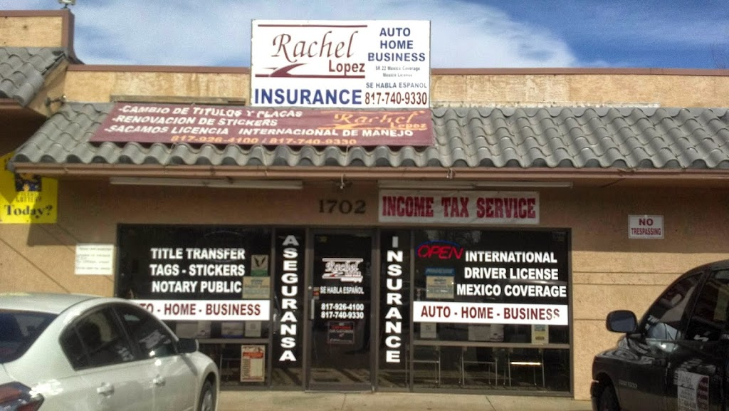 Rachel Lopez Insurace | insurance agency | 1702 NW 28th St, Fort Worth, TX 76164, USA | 8177409330 OR +1 817-740-9330
