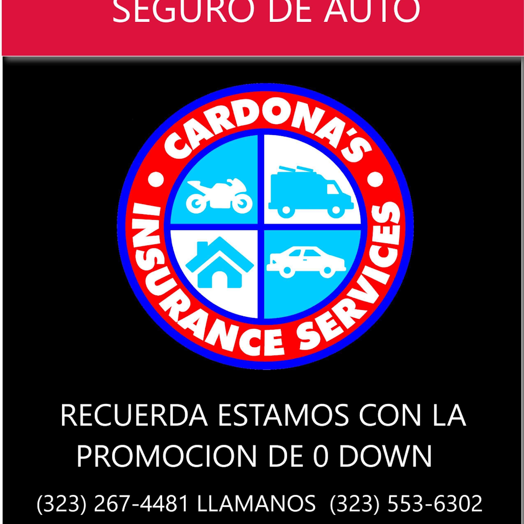 Cardonas Insurance Services | insurance agency | 4146 E Olympic Blvd, Los Angeles, CA 90023, USA | 3232674481 OR +1 323-267-4481