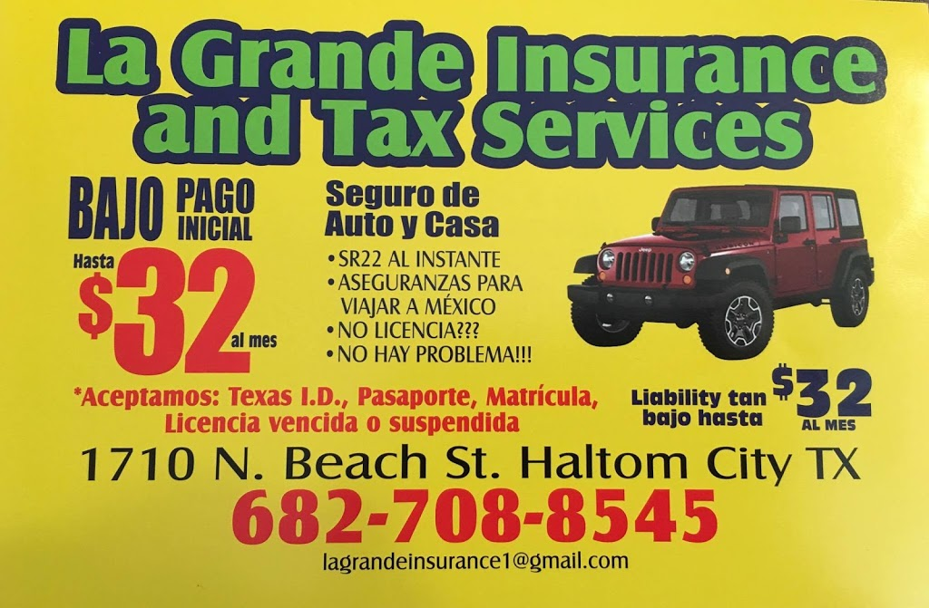 La Grande Insurance and Tax Service | insurance agency | 2940 NE 28th St, Fort Worth, TX 76111, USA | 6827088545 OR +1 682-708-8545