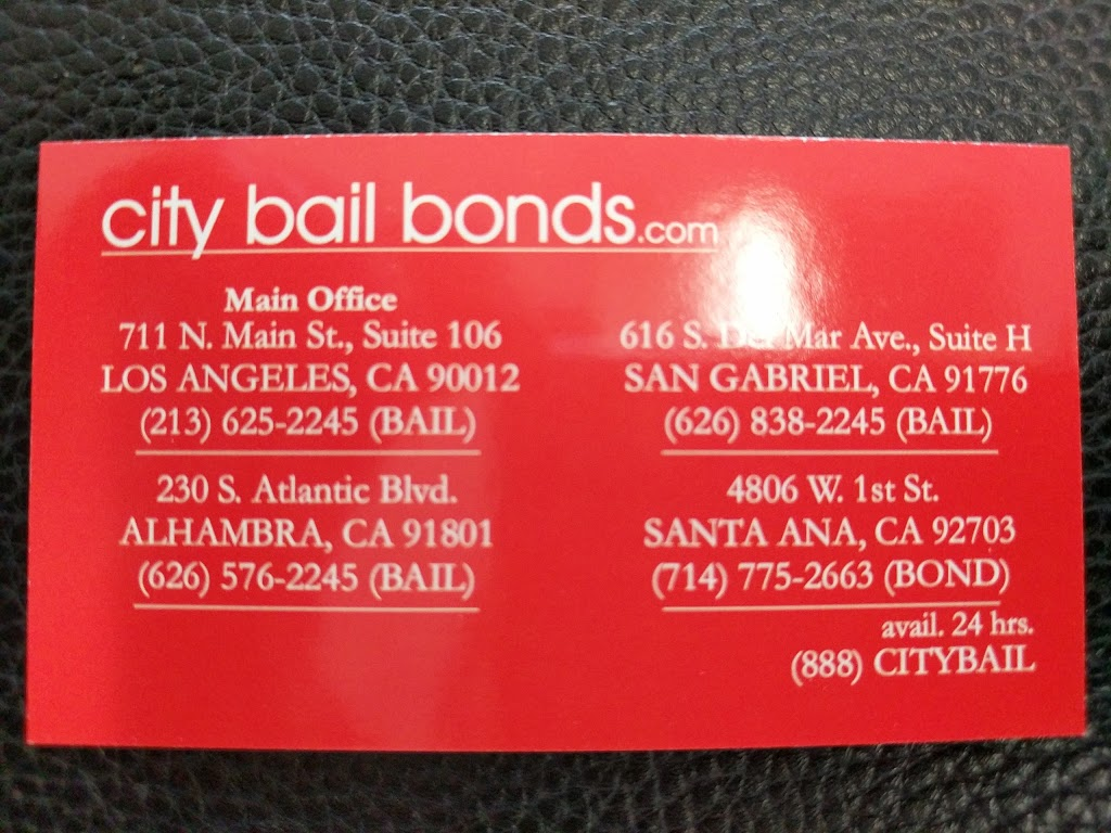 CITY Bail Bonds Headquarters | insurance agency | 711 N Main St #106, Los Angeles, CA 90012, USA | 2136252245 OR +1 213-625-2245