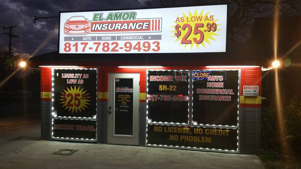 El Amor Auto Insurance | insurance agency | 2601 Azle Ave, Fort Worth, TX 76106, USA | 8177829493 OR +1 817-782-9493