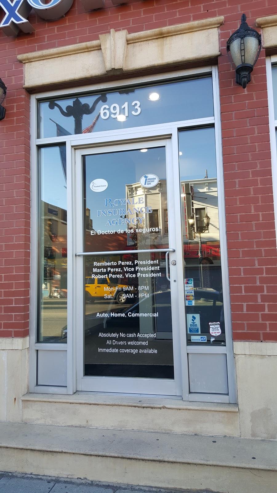 Royale Insurance Agency   insurance agency   6913 Bergenline Ave, Guttenberg, NJ 07093, USA   2018687800 OR +1 201-868-7800