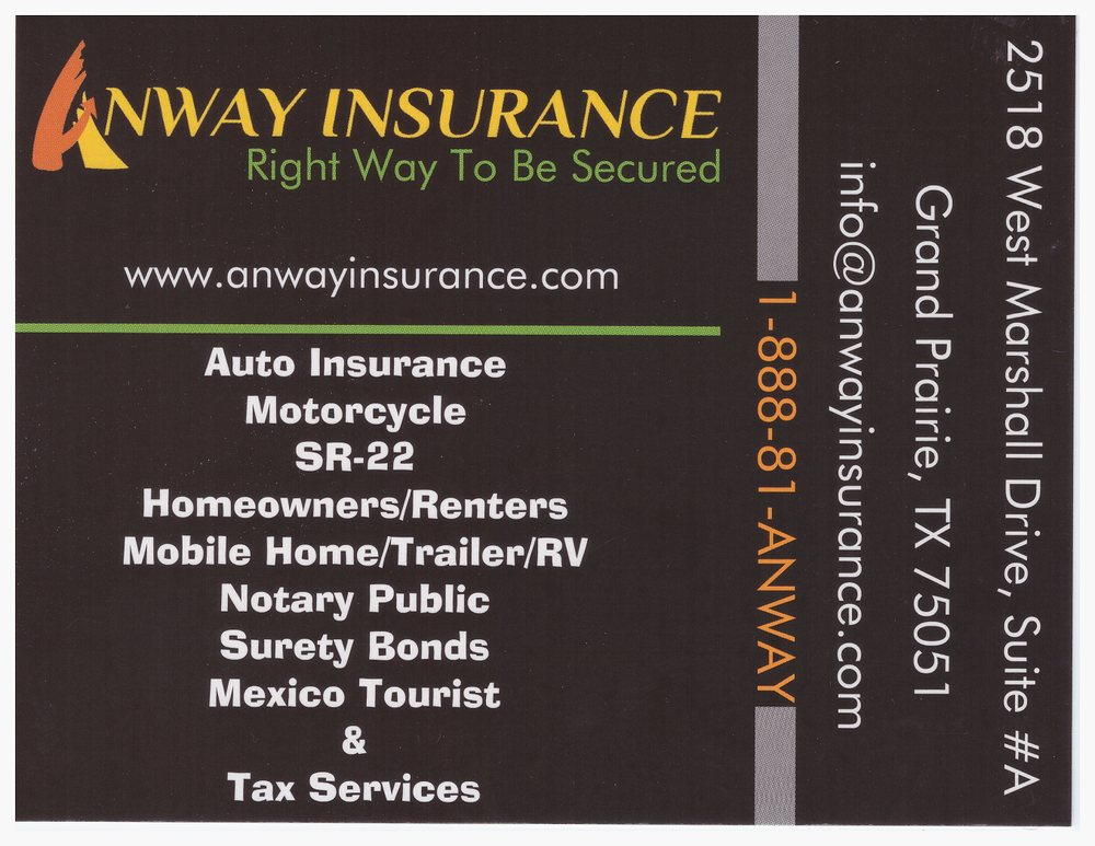 Anway Insurance | insurance agency | 2809 E Park Row Dr, Arlington, TX 76010, USA | 8888126929 OR +1 888-812-6929