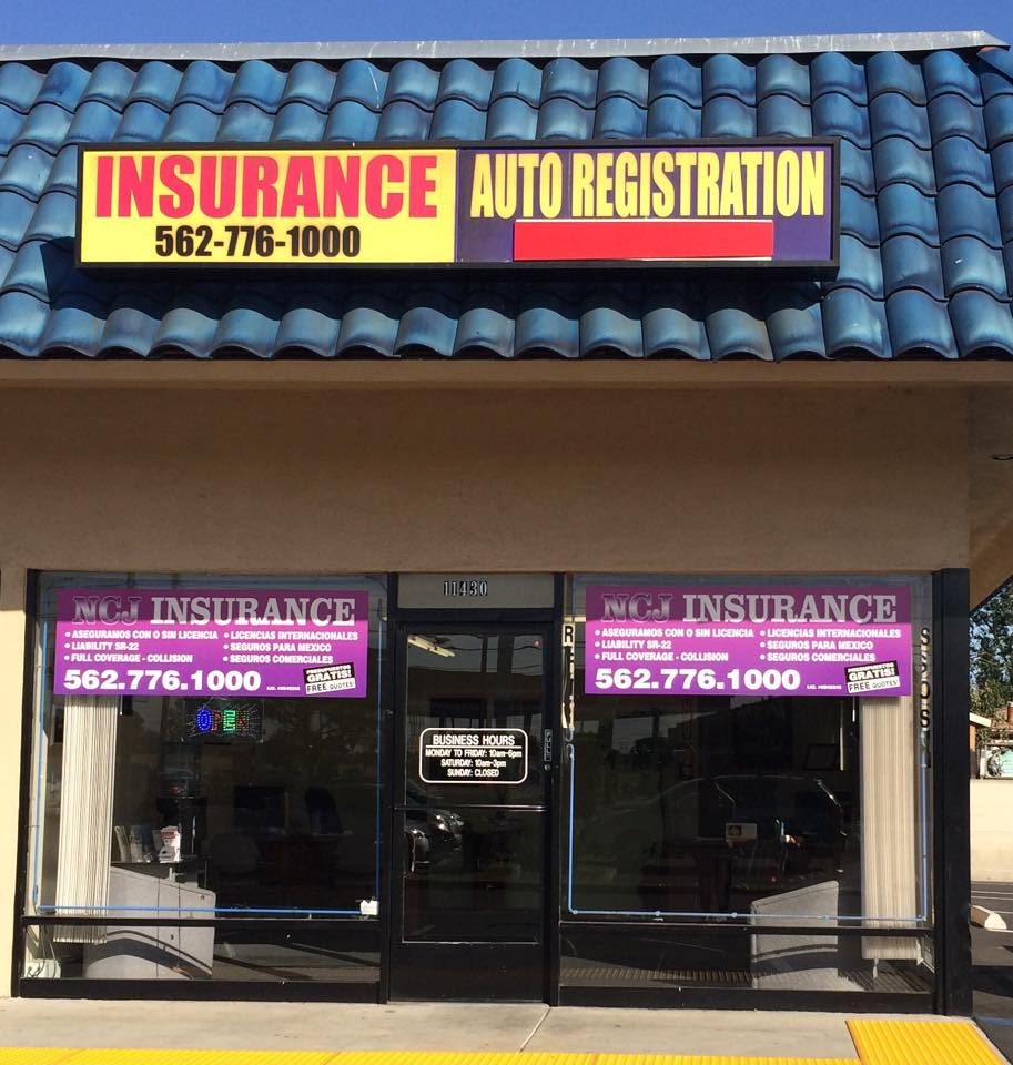 NCJ Insurance Services & Auto Registration | insurance agency | 11430 Old River School Rd, Downey, CA 90241, USA | 5627761000 OR +1 562-776-1000