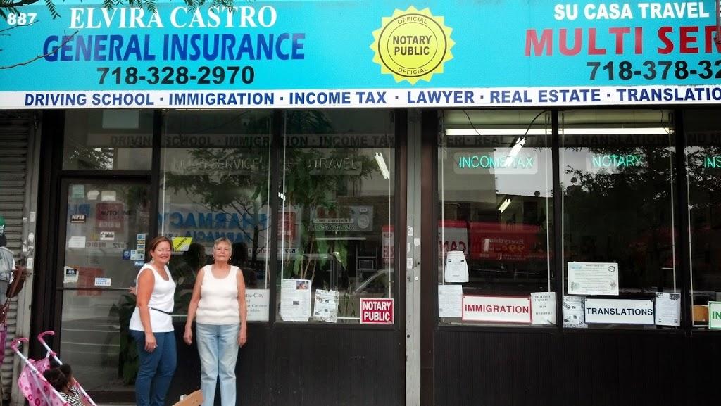Elvira Castro General Insurance | insurance agency | 887 Hunts Point Ave, The Bronx, NY 10474, USA | 7183282970 OR +1 718-328-2970