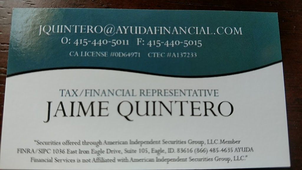 Ayuda Financial Services | insurance agency | 240 Golden Gate Ave #105, San Francisco, CA 94102, USA | 4154405011 OR +1 415-440-5011