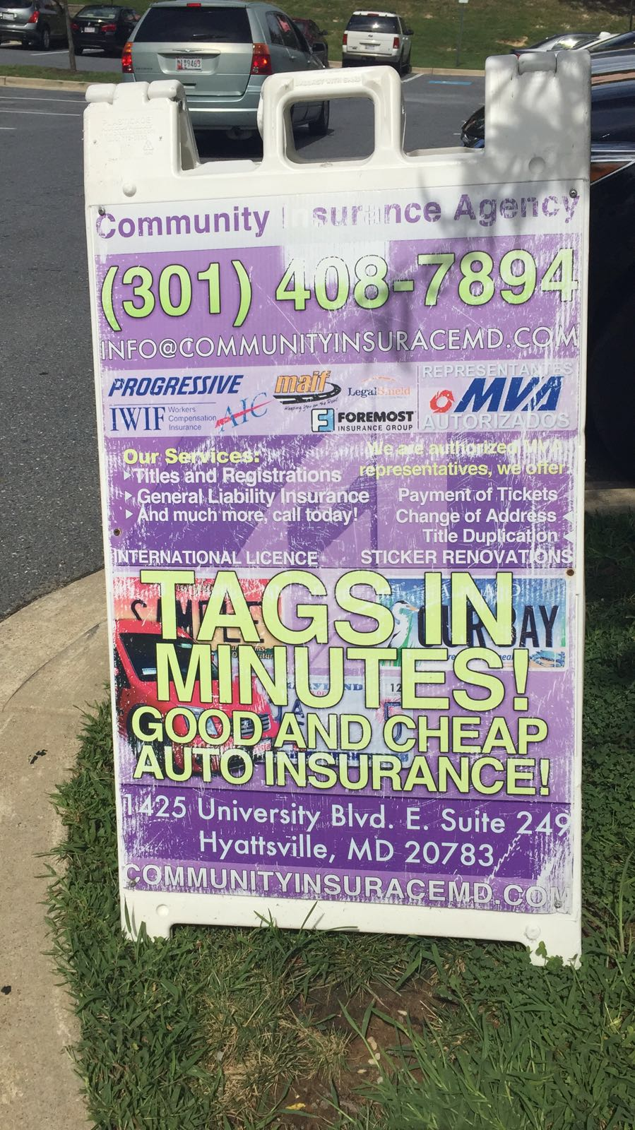Community Insurance Tag and Title Service | insurance agency | 1425 University Blvd E #249, Hyattsville, MD 20783, USA | 3014087894 OR +1 301-408-7894