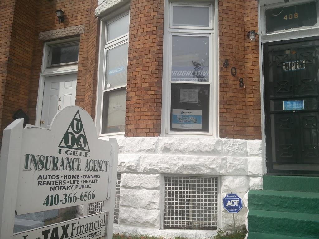 Ugele Insurance Agency   insurance agency   408 E 25th St, Baltimore, MD 21218, USA   4103666566 OR +1 410-366-6566