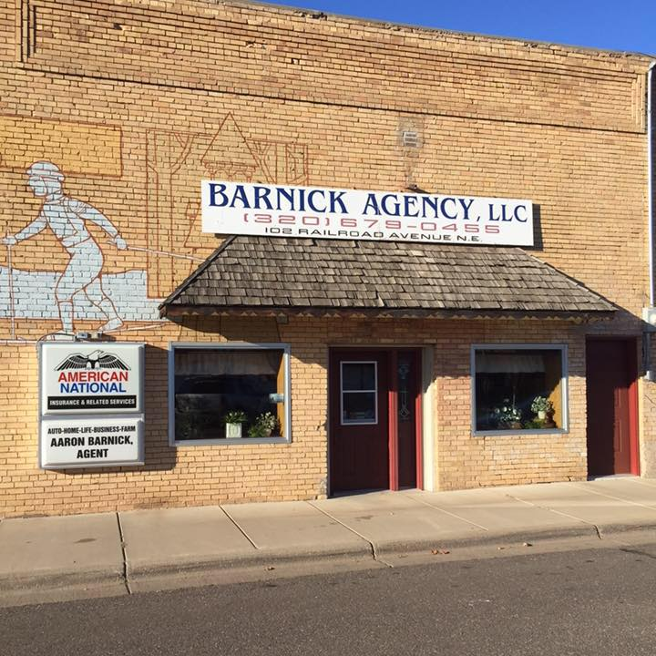 Barnick Agency LLC | insurance agency | 102 Railroad Ave NE, Mora, MN 55051, USA | 3206790455 OR +1 320-679-0455
