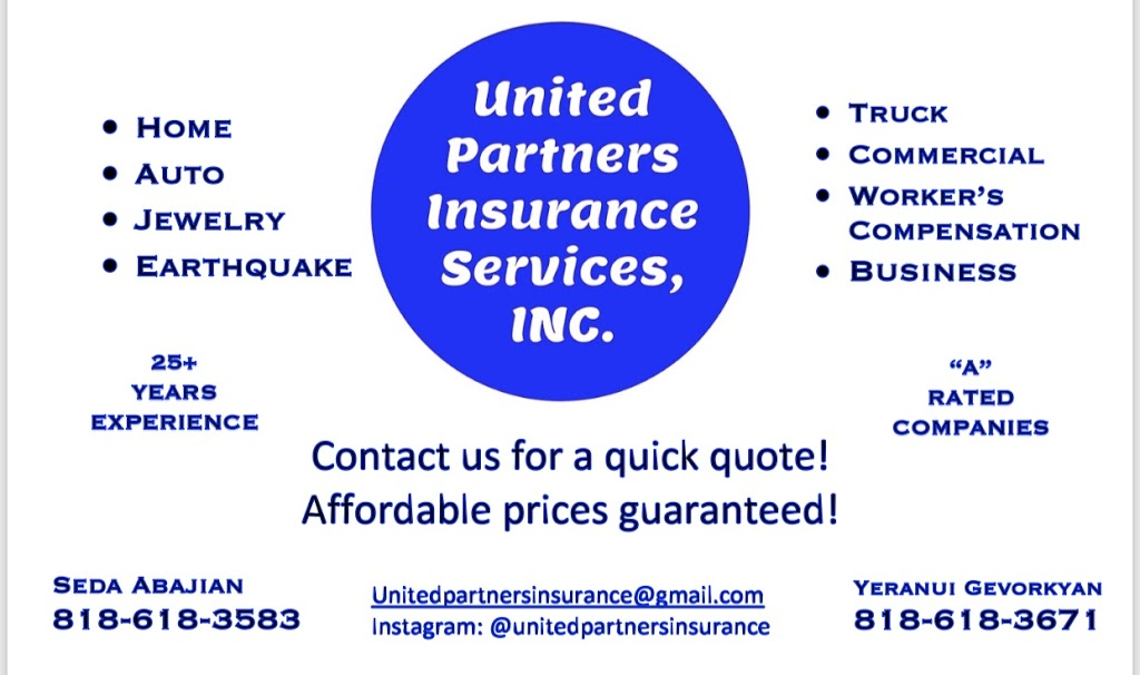 United Partners Insurance | insurance agency | 2000 Hillhurst Ave, Los Angeles, CA 90027, USA | 8186183671 OR +1 818-618-3671